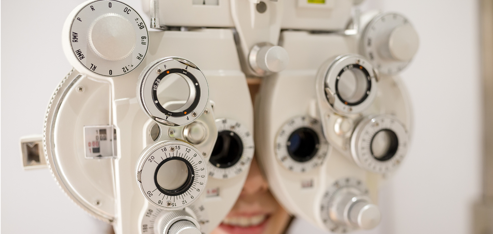 Person getting eye exam