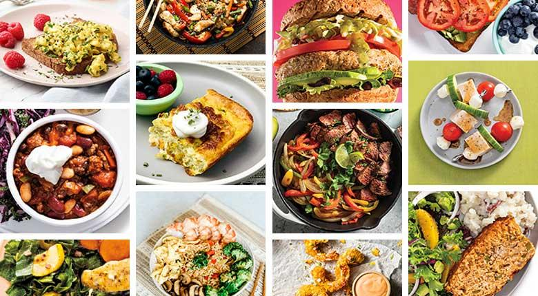Diabetes Food Hub 2020 Top Recipes Composite