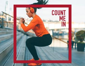 Count Me In campaign image woman exercising