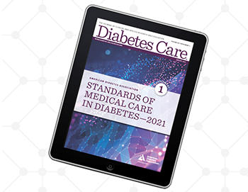 2021 Standards of Care cover on tablet